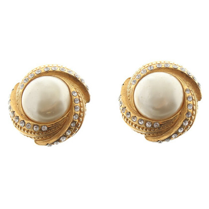 Chanel Clip Earrings with gemstones