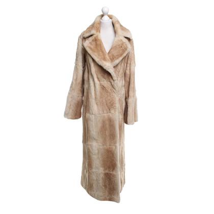 Plein Sud Fur coat in beige
