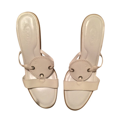 Tod's Mules in white