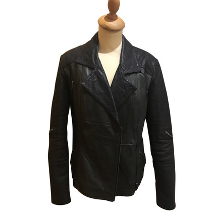 Gestuz Leather jacket with biker elements
