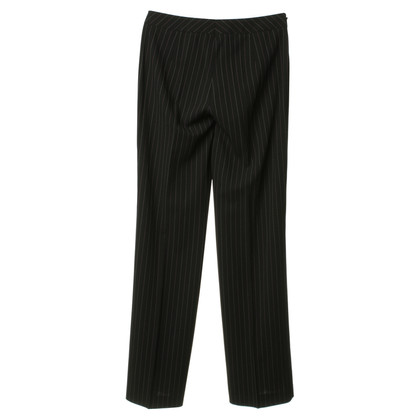 Escada Black trousers with pinstripes