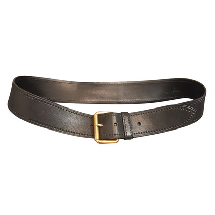 Miu Miu Leather belt with gold buckle