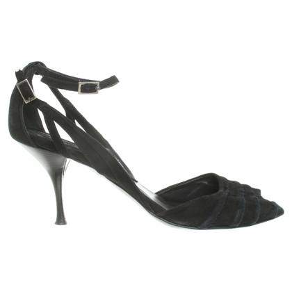René Lezard Suede sandals