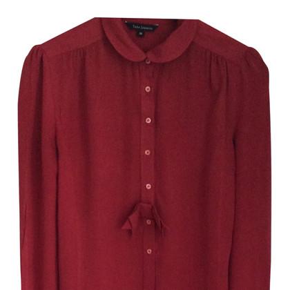 Tara Jarmon Red silk shirt