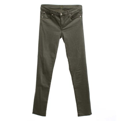 7 For All Mankind Jeans in olive green