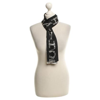 Chanel Seidenbandeau in zwart / White