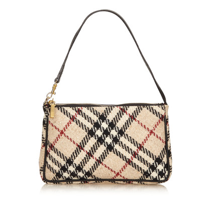 Burberry Borsa in lana di plaid