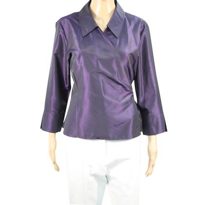 Hobbs camicetta di seta in viola