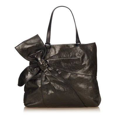 Valentino Leather Bow Tote