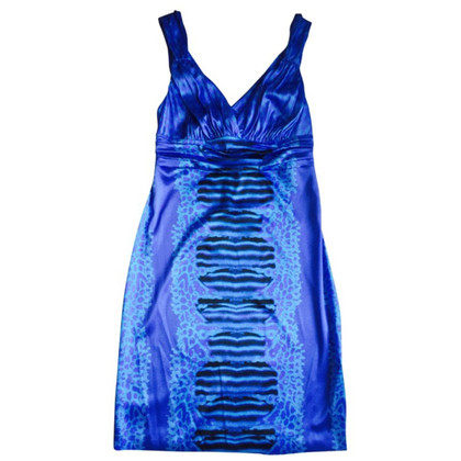 Roberto Cavalli Blue silk dress 48 IT