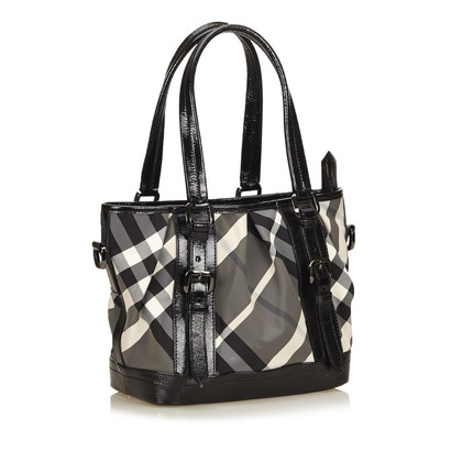 Burberry Nylon Plaid Handtas