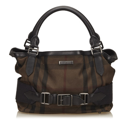 Burberry Canvas Plaid Handtas