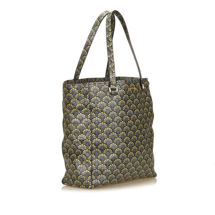 Miu Miu Printed Leather Madras Tote