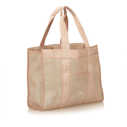 Fendi Zucca Canvas Tote Bag
