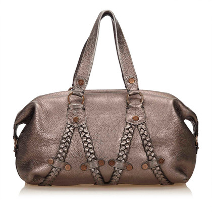 Mulberry Borsa in pelle metallica