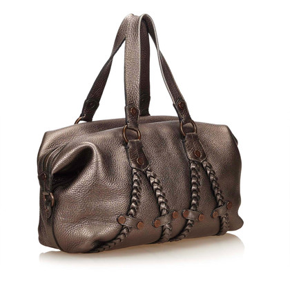 Mulberry Metallic Leder Handtasche
