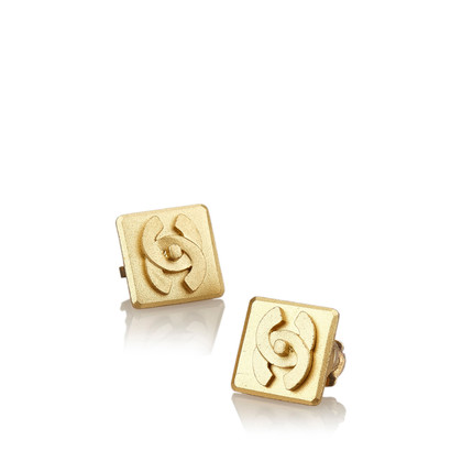 Chanel Gold-tone CC Clip On Earrings