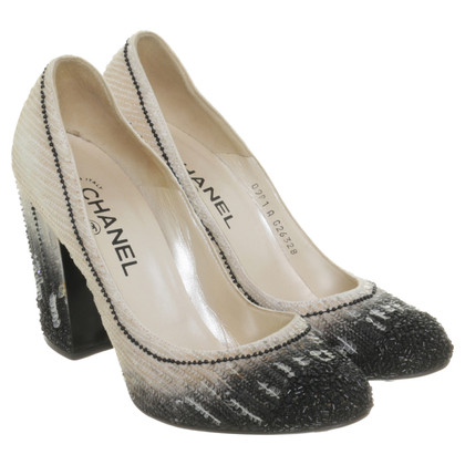 Chanel Pumps with sequin trim