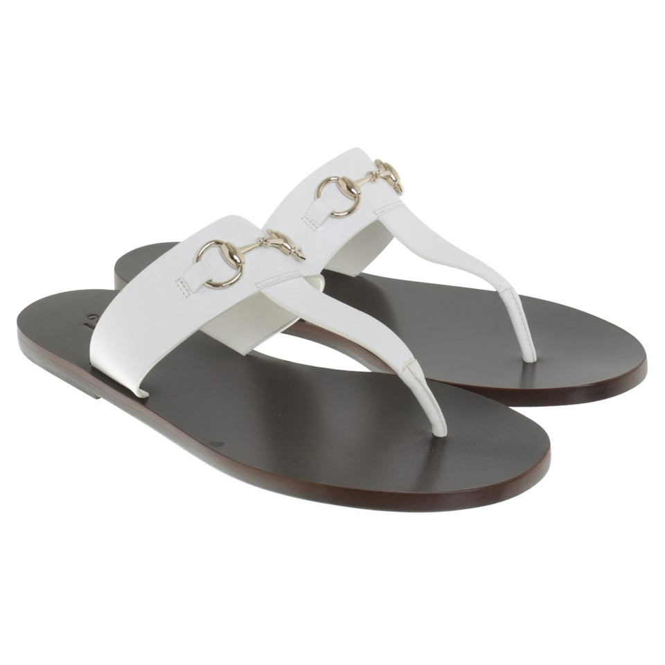 gucci sandalen in wei second hand gucci sandalen in. Black Bedroom Furniture Sets. Home Design Ideas