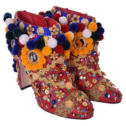 Dolce & Gabbana Enkellaarzen met decoratieve afwerking