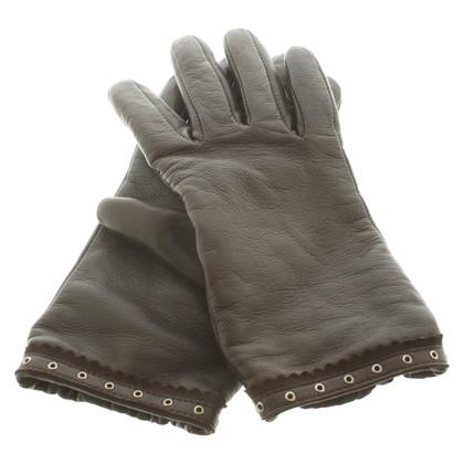Roeckl Dark brown leather gloves