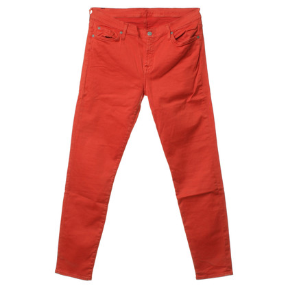 7 For All Mankind Hose in Rot