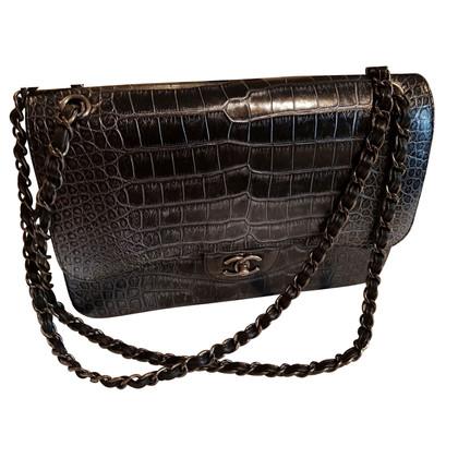 Chanel Alligator Jumbo Double Flap Bag