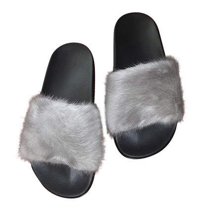 Givenchy Sandals with mink fur trim