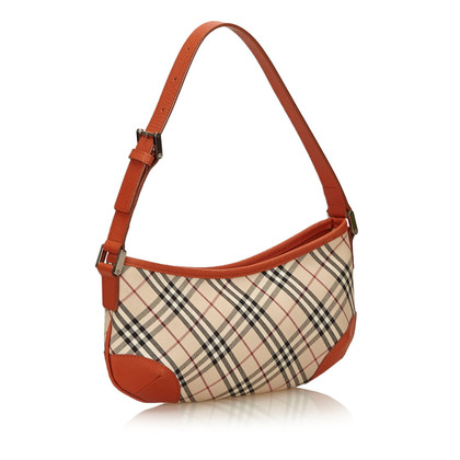 Burberry Plaid Cotton Shoulder tas
