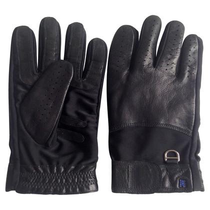 Marc Cain guanti in pelle nera
