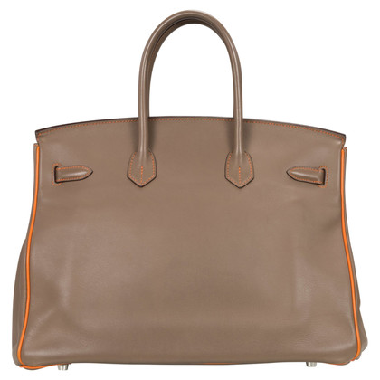 Hermès Hermès Birkin 35 HSS in Etoupe / Orange
