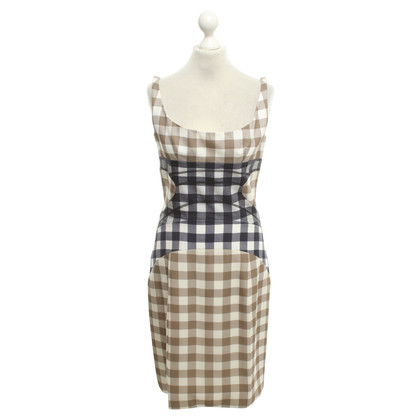 Christopher Kane Silk dress with plaid pattern
