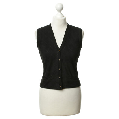 Chanel Suede sweater vest black