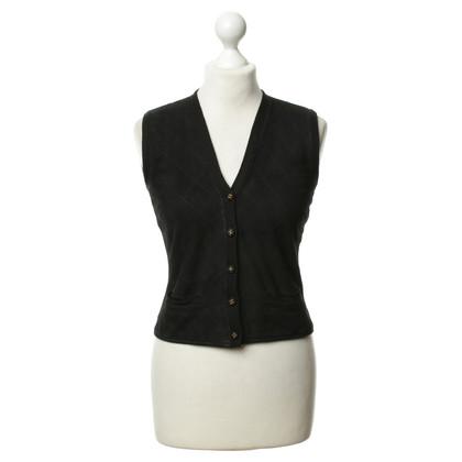 Chanel Suède trui vest zwart