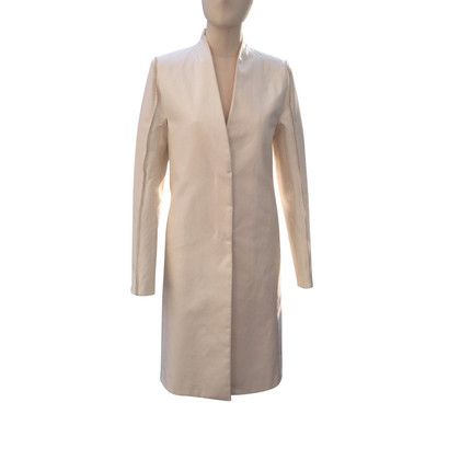 Maison Martin Margiela Coat with leather sleeves