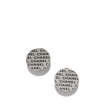 Chanel Logo Disc Earrings