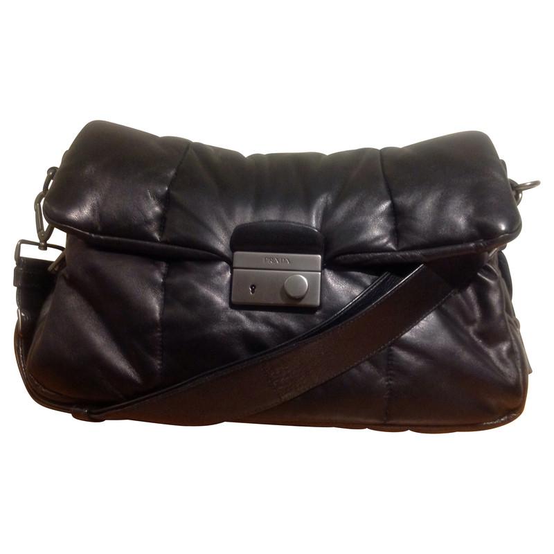 prada sac en cuir nappa acheter prada sac en cuir nappa. Black Bedroom Furniture Sets. Home Design Ideas