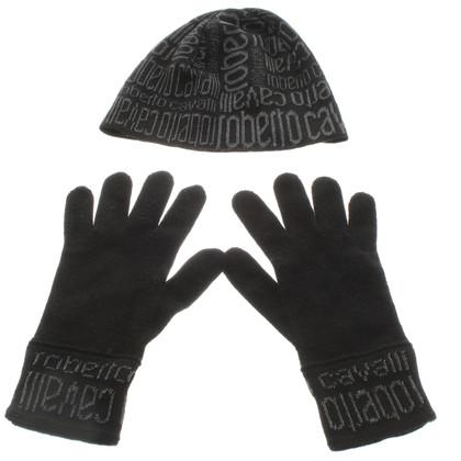 Roberto Cavalli Hat & Knit Gloves