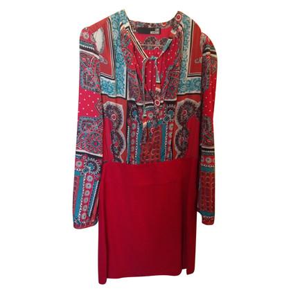 Moschino printed fantasy red dress
