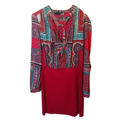 Moschino vestito fantasia rosso stampato