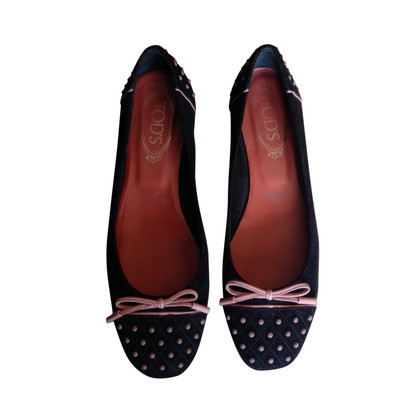 Tod's black dancers with picots