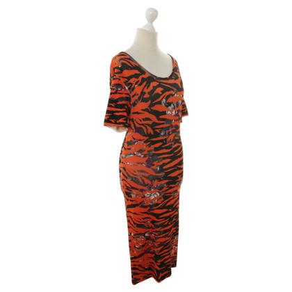 Alexander McQueen Kleid mit Animal-Print
