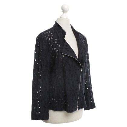 Marc Cain Lace cardigan with floral pattern