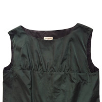 Dries van Noten taftiges vestito da cocktail verde bottiglia