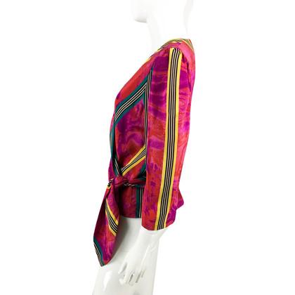 Lanvin Vibrante seta stampata Wrap camicetta