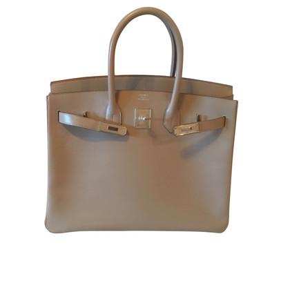 Hermès Birkin Bag 35 Guilloche Tadelakt Argile