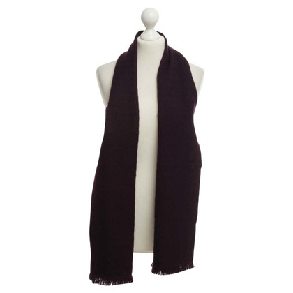 Christian Dior Wool scarf in Bordeaux