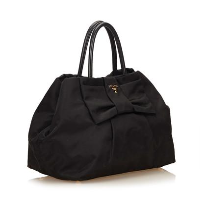 Prada Nylon Tessuto Bogen Handtasche