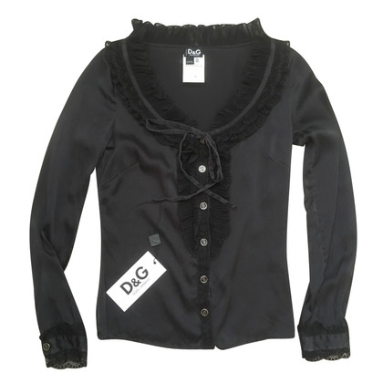 D&G Blouse D&G black silk