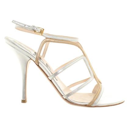 Prada Sandals in Metallic